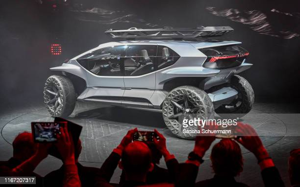 The Audi AITRAIL is seen at the Audi press conference at the IAA Frankfurt Motor Show on September 10 2019 in Frankfurt am Main Germany