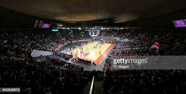 The Audi Dome during the Eurocup Top 16 Round 5 match between FC Bayern Muenchen and ratiopharm Ulm at Audi Dome on February 1 2017 in Munich Germany