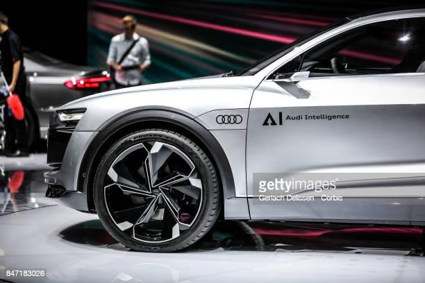The Audi Elaine Concept on display at the 2017 Frankfurt Auto Show 'Internationale Automobil Ausstellung' on September 13 2017 in Frankfurt am Main...