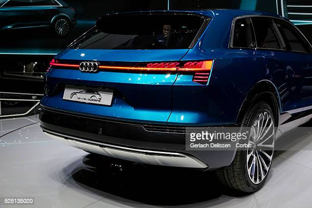 The Audi etron quattro concept on display during the 66 Internationale AutomobilAusstellung 2015 in Frankfurt am Main Germany on September 16 2015