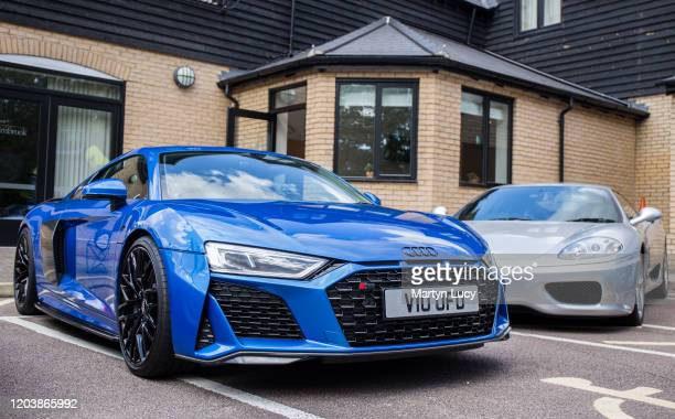 The Audi R8 at the Sharnbrook hotel in Bedford, England. The Audi was one of many cars on display at the Sharnbrook Hotels 'Supercar Sunday' event.