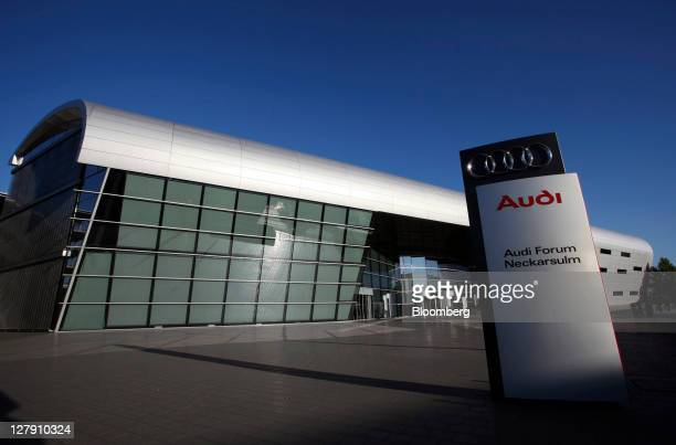 The Audi showroom or 'forum' stands outside the company's factory in Neckarsulm Germany on Friday Sept 30 2011 Volkswagen AG's Audi will probably...