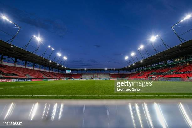 The Audi Sportpark football stadium after the DFB Cup first round match between FC Ingolstadt 04 and Erzgebirge Aue at Audi Sportpark on August 9,...