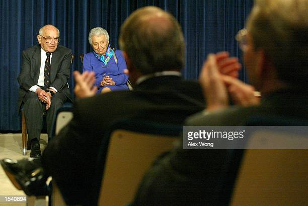 The audience applauds during a White House event to honor Milton Friedman , recipient of the 1976 Nobel Prize for economic science, May 9, 2002 in...
