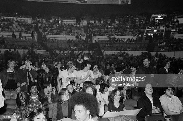 The audience at a concert by American heavy metal group Kiss during their Rock Roll Over tour Nassau Coliseum New York 21st February 1977