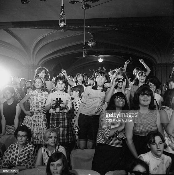 The audience at The Ed Sullivan Show during the Beatles' third appearance. Image dated August 14, 1965.