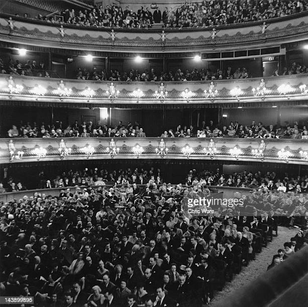 The audience at the Royal Opera House, Covent Garden, London, 15th February 1959.