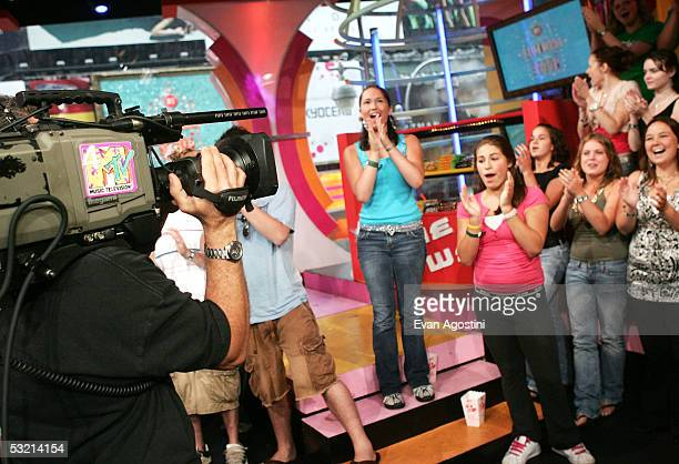 The audience cheers on MTV's Total Request Live at MTV Studios July 8 2005 in New York City