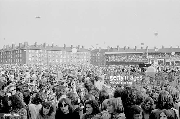The audience during Rock At The Oval in London 18th September 1971