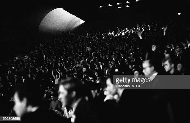 The Audience During The Concert Of The Rolling Stones At The Olympia Music Hall In Paris France on October 20 1964