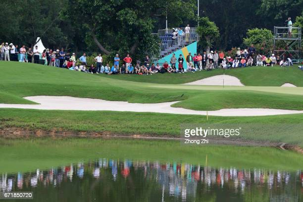 the audience during the final round of the Shenzhen International at Genzon Golf Club on April 22 2017 in Shenzhen China