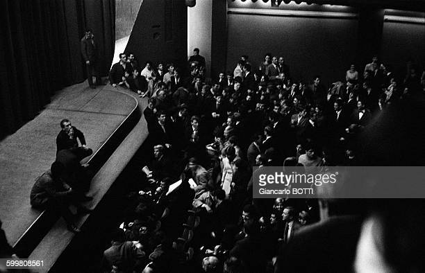 The Audience Is Waiting For The Rolling Stones' Concert At The Olympia Music Hall In Paris France on October 20 1964