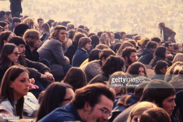 The audience pictured at the Altamont Speedway for the free concert headlined by the Rolling Stones