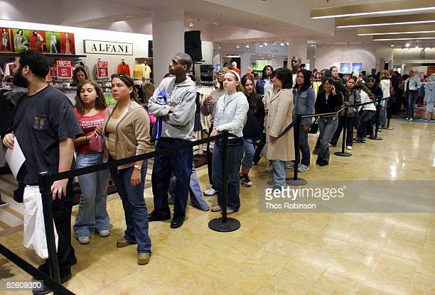 The audience waits for an in store appearance to begin from the cast of 'Veronica Mars' at Macy's Herald Square on April 9 2005 in New York City