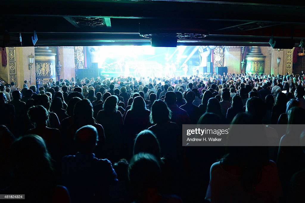 The audience watches The Voice finalists perform during The Voice 2014 Tour at The Beacon Theatre on July 7, 2014 in New York City.