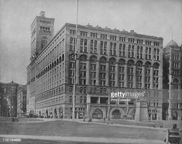 The Auditorium Chicago' circa 1897 Multiuse complex including offices theater and hotel Designed by Louis Sullivan and Dankmar Adler Completed in...