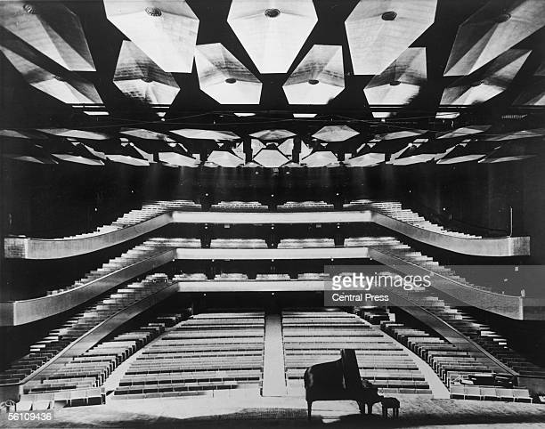 The auditorium of the Philharmonic Hall in the Lincoln Center for the Performing Arts viewed from the stage, 24th Septemebr 1962.
