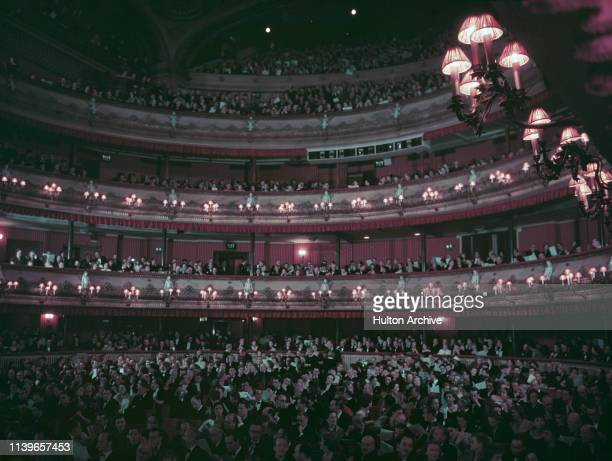 The auditorium of the Royal Opera House in Covent Garden, London, circa 1955.