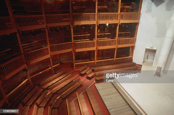 The auditorium of the Swan Theatre which is owned by The Royal Shakespeare Company StratforduponAvon Warwickshire 1989