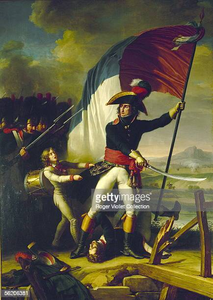 The Augereau general at the bridge of Arcole Salon of 1798 per Charles Thevenin Museum of Versailles RV02344