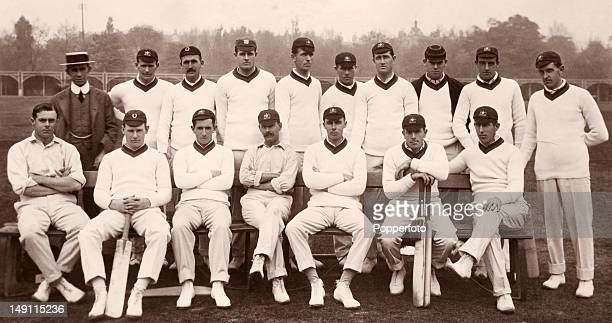 The Australia cicket team for the tour of England photographed at Lord's cricket ground in London circa May 1912 Back row George Crouch Roy Minnettt...