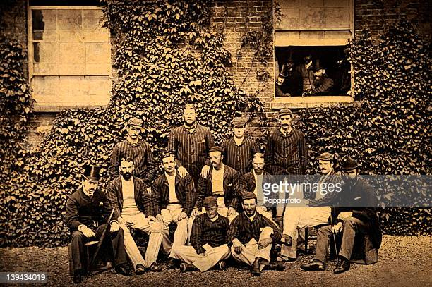 The Australia cricket team during their tour of England in 1882 Back row HHMassie GJBonner SPJones FRSpofforth Seated CWBeal JMBlackham GGiffen...