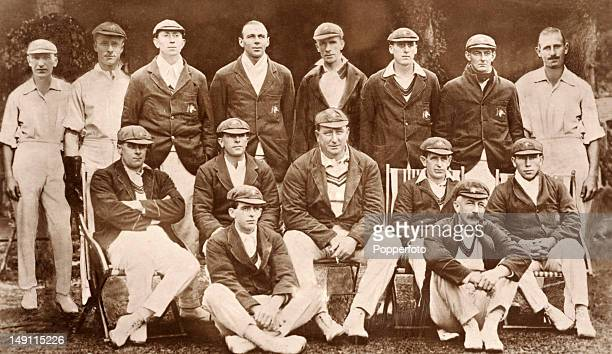 The Australia cricket team for the tour of England captained by Warwick Armstrong in 1921 Back row Tommy Andrews Bill Oldfield Jack Ryder Jack...
