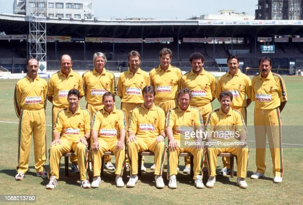 The Australia Masters team during a photocall for the Masters Cup tournament at the Brabourne Stadium Bombay circa 1st March 1995 Pictured are Greg...