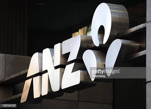 The Australia New Zealand Banking Group Ltd logo is displayed at the company's head office in Sydney Australia on Wednesday Aug 31 2011 Australia New...
