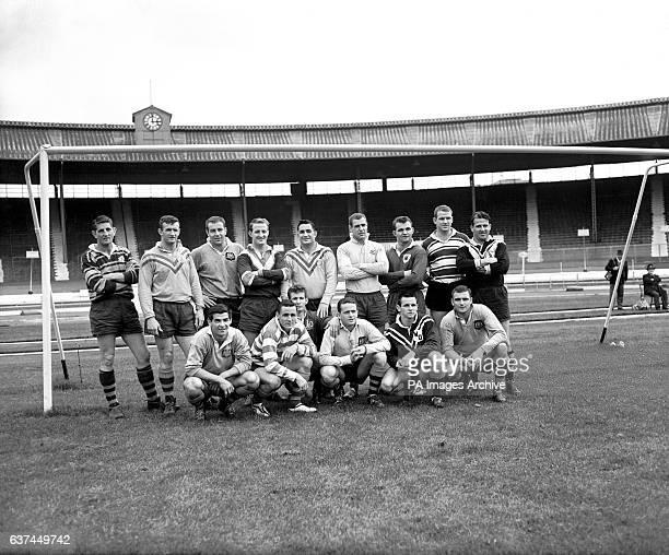 The Australia squad for their 1963-64 tour: Paul Quinn, Brian Hambly, Dick Thornett, John Raper, Ian Walsh, Ken Thornett, Peter Dimond, Peter...