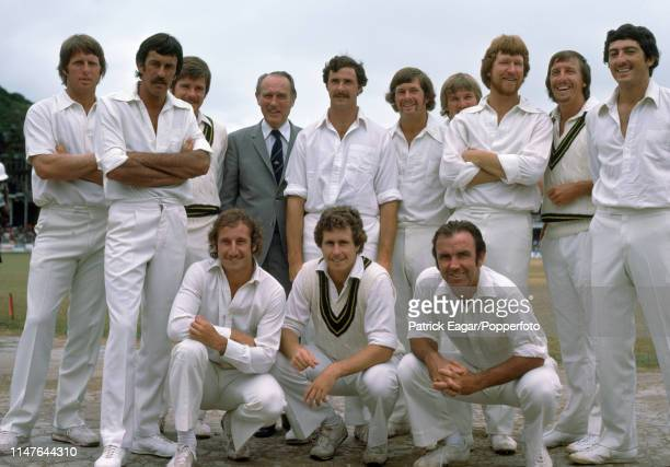 The Australia team for the 1st Test match between West Indies and Australia at Queen's Park Oval Port of Spain Trinidad 3rd March 1978 Pictured are...