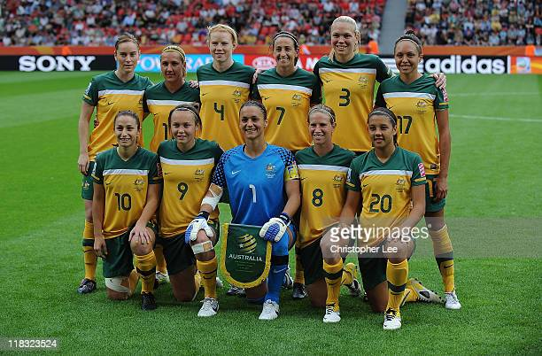 The Australia team lines up for a team photo before the FIFA Women's World Cup 2011 Group D match between Australia and Norway at the FIFA World Cup...