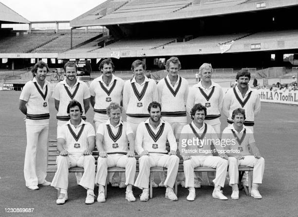 The Australia Test squad line up for a team photo on day five of the 3rd Test match between Australia and England at the MCG, Melbourne, Australia,...