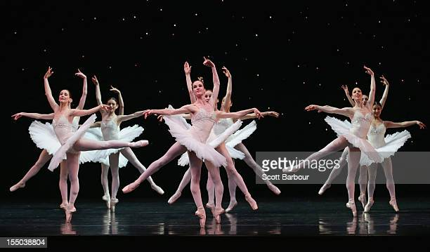 The Australian Ballet perform '50th Overture' during the Australian Ballet 50th Anniversary Gala photocall at the Arts Centre on October 31 2012 in...