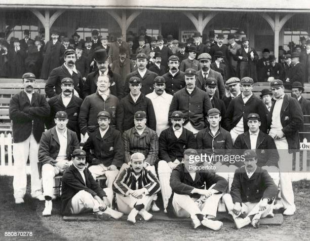 The Australian cricket team and the Essex County cricket team prior to their match at Leyton circa May 1902 The match ended in a draw after it was...