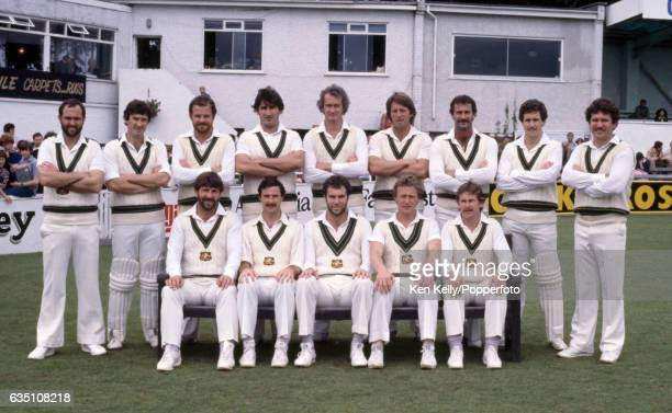 The Australian cricket team for the tour match between Young England and Australia at New Road Worcester 14th August 1980 Back row left to right Ray...