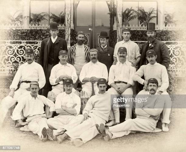 The Australian cricket team prior to their match against Lord Sheffield's XI at Sheffield Park near Uckfield in Sussex on 8th May 1890 The...