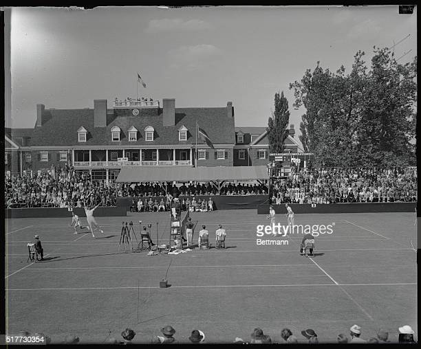 The Australian Davis Cup team took a 21 lead in the North American zone final tie with the US when its doubles team of Jack Crawford and Adrian Quist...