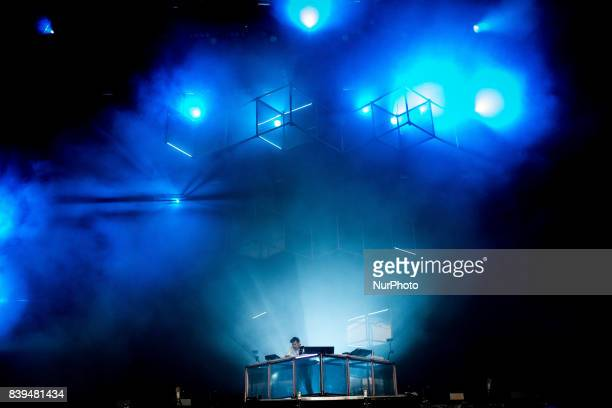 The australian deejay and producer Flume performing live at Lowlands Festival 2017 Biddinghuizen Netherlands on 20 August 2017 during the third day...
