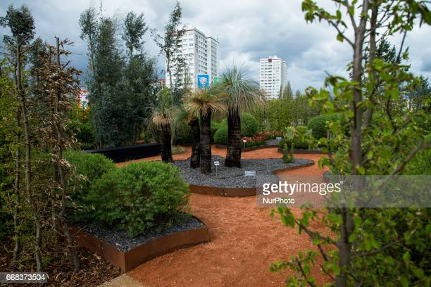 The Australian garden is pictured during the opening of the IGA 2017 in Berlin Germany on April 13 2017 The exhibition will open from April 13 until...