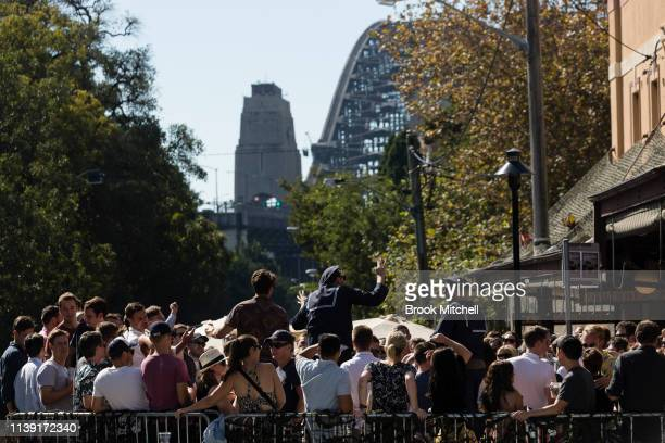 The Australian Hotel in the Rocks is pictured on April 25 2019 in Sydney Australia Australians commemorating 104 years since the Australian and New...