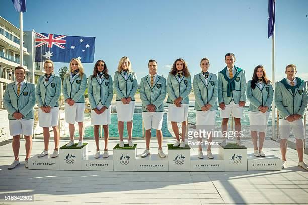 BONDI SYDNEY NSW AUSTRALIA The Australian Olympic Committee unveiled the Opening Ceremony Uniforms for the 2016 Australian Olympic Team in Bondi...