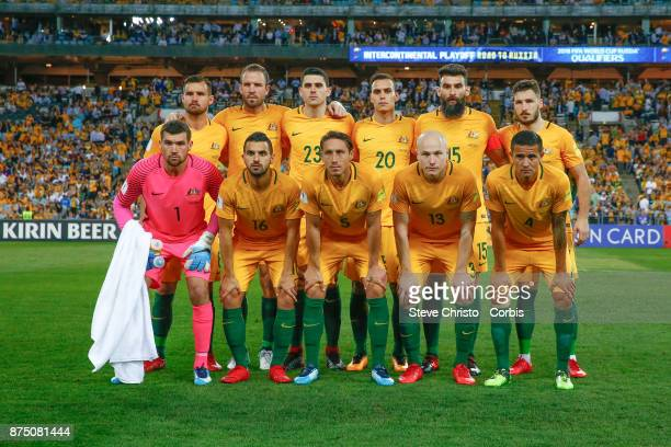 The Australian team photo during the 2nd leg of the 2018 FIFA World Cup Qualifier between the Australia and Honduras at Stadium Australia on November...
