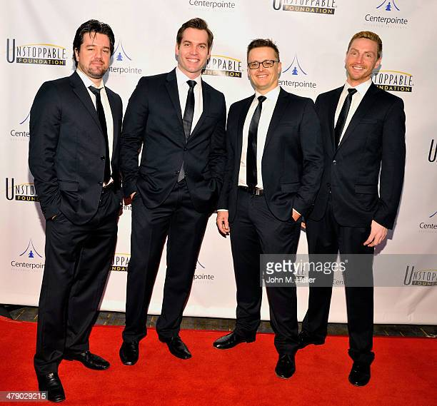 The Australian Tenors 'Aria' attend the 5th Annual Unstoppable Gala at the Hyatt Regency Century Plaza Hotel on March 15 2014 in Century City...