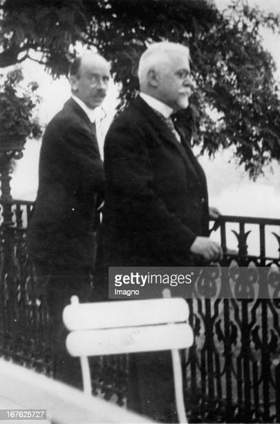 The Austrian chancellor Johann Schober and the Hungary prime minister Count István Bethlen in Budapest Photograph About 1930 Der österreichische...