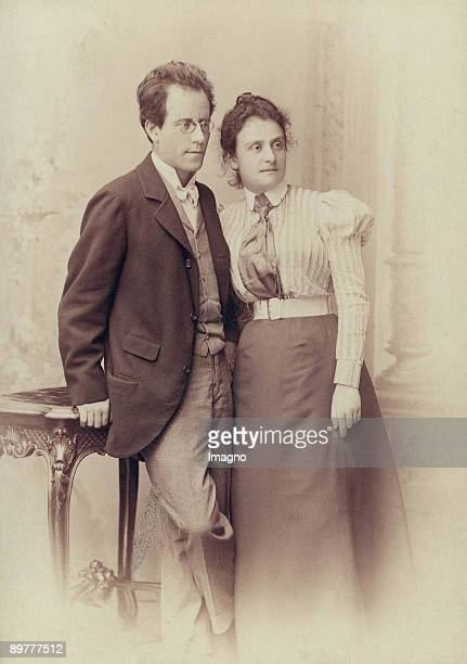 The Austrian composer Gustav Mahler and his sister Justine Photograph Around 1900