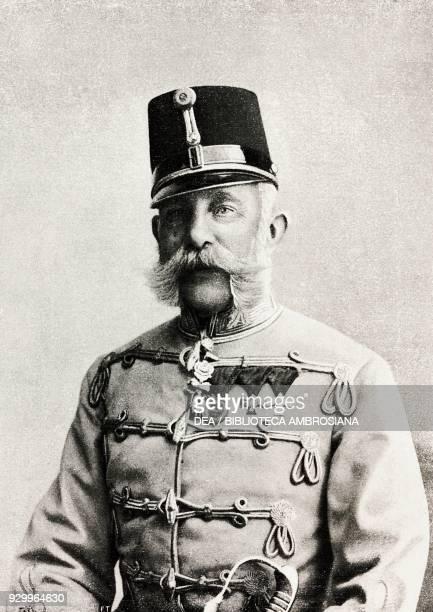 The Austrian Emperor Franz Joseph I , photograph Koller Karoly of Budapest, from L'Illustrazione Italiana, Year XXVII, No 19, May 13, 1900.
