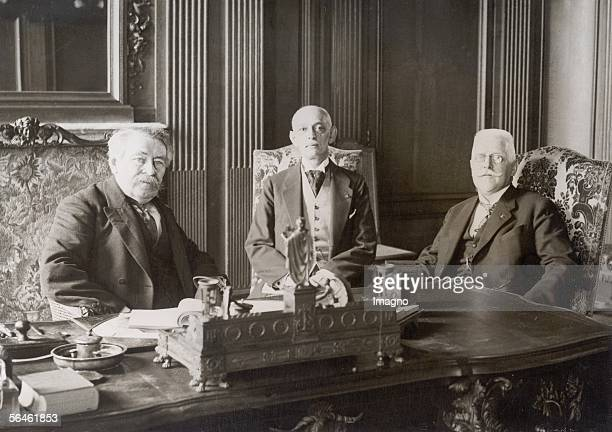 The Austrian federal chancellor Johann Schober visiting Paris French foreign minister Briand Austrian ambassador Grunberger and Johann Schober...