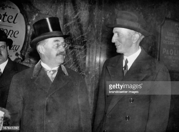 The Austrian finance minister Karl Buresch and the Austrian ambassador in London Baron Georg Albert Franckenstein on the way to the chancellor ot the...