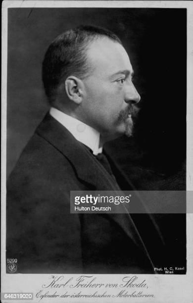 The Austrian Industrialist Karl Von Skoda director of the Skoda automobile firm from 1909